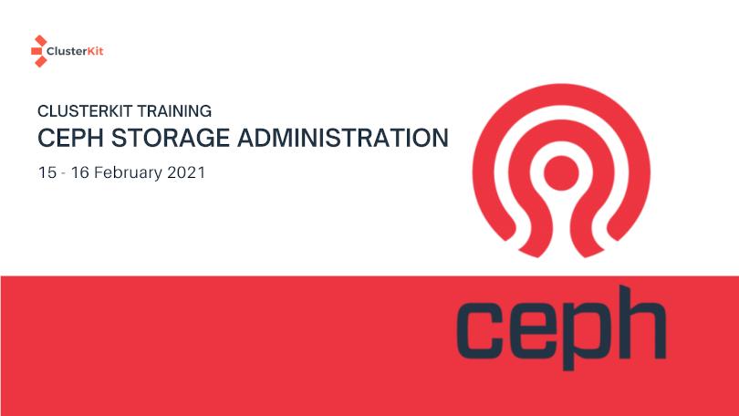เปิดอบรมหลักสูตร Ceph Administration เดือน ก.พ. 64